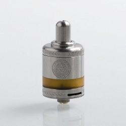 Authentic Asvape Zeta MTL RTA Rebuildable Tank Atomizer - Silver, Stainless Steel + PEI, 2.5ml, 22mm Diameter