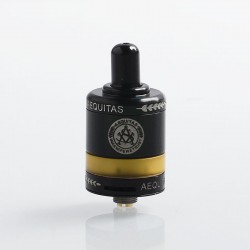 Authentic Asvape Zeta MTL RTA Rebuildable Tank Atomizer - Black, Stainless Steel + PEI, 2.5ml, 22mm Diameter