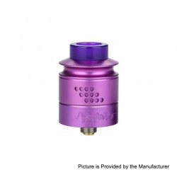 Authentic Timesvape Reverie RDA Rebuildable Dripping Atomizer w/ BF Pin - Purple, Aluminum + Stainless Steel, 24mm Diameter