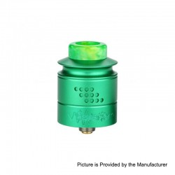 Authentic Timesvape Reverie RDA Rebuildable Dripping Atomizer w/ BF Pin - Green, Aluminum + Stainless Steel, 24mm Diameter