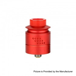 Authentic Timesvape Reverie RDA Rebuildable Dripping Atomizer w/ BF Pin - Red, Aluminum + Stainless Steel, 24mm Diameter