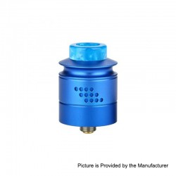 Authentic Timesvape Reverie RDA Rebuildable Dripping Atomizer w/ BF Pin - Blue, Aluminum + Stainless Steel, 24mm Diameter