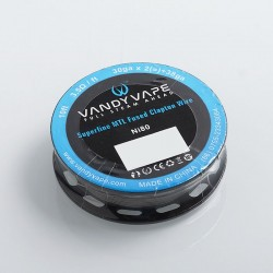 Vandy Vape Ni80 Superfine MTL Fused Clapton Heating Resistance Wire - 30GA x 2 + 38GA, 3.5 Ohm / Ft, 3m (10 Feet)