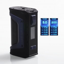 Authentic GeekVape Aegis Legend 200W TC VW Variable Wattage Box Mod - Navy Blue Trim, 5~200W, 2 x 18650