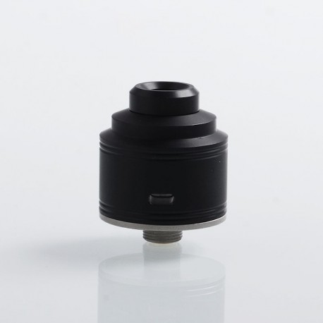 Authentic GAS Mods Nixon S RDA Rebuildable Dripping Atomizer w/ BF Pin - Black + Silver, PMMA + Stainless Steel, 22mm Diameter