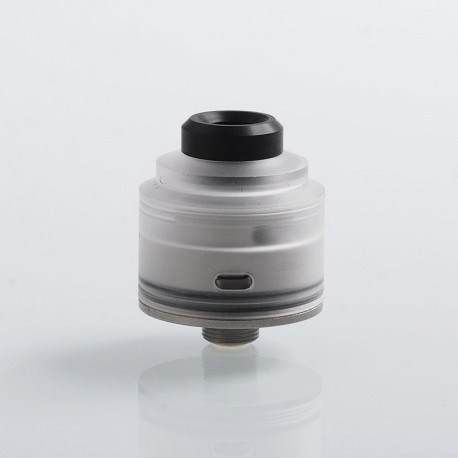 Authentic GAS Mods Nixon S RDA Rebuildable Dripping Atomizer w/ BF Pin - Clear + Silver, PC + Stainless Steel, 22mm Diameter