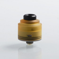 Authentic GAS Mods Nixon S RDA Rebuildable Dripping Atomizer w/ BF Pin - Ultem + Silver, PEI + Stainless Steel, 22mm Diameter