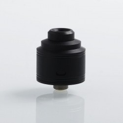 Authentic GAS Mods Nixon S RDA Rebuildable Dripping Atomizer w/ BF Pin - Black, PEI + Stainless Steel, 22mm Diameter