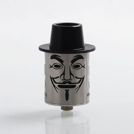 Authentic Fumytech Vendetta RDA Rebuildable Dripping Atomizer - Silver, Stainless Steel, 24mm Diameter