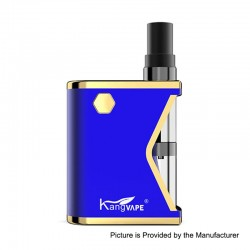 Authentic Kangvape Mini K 400mAh VV All-in-One Starter Kit - Blue, 0.5ml, 1.5 Ohm