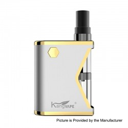 Authentic Kangvape Mini K 400mAh VV All-in-One Starter Kit - Silver, 0.5ml, 1.5 Ohm