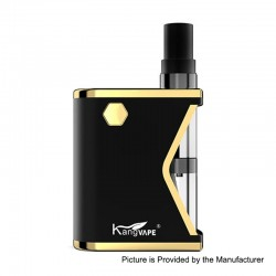 Authentic Kangvape Mini K 400mAh VV All-in-One Starter Kit - Black, 0.5ml, 1.5 Ohm