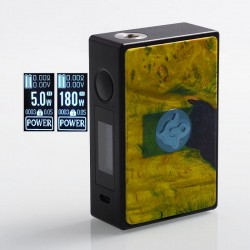 Authentic Asmodus EOS 180W Touch Screen TC VW Variable Wattage Box Mod - Green, Aluminum + Stabilized Wood, 5~180W, 2 x 18650