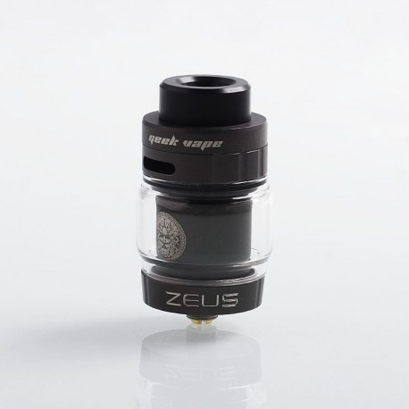 Authentic GeekVape Zeus Dual RTA Rebuildable Tank Atomizer Standard Edition - Gun Metal, Stainless Steel, 4ml, 26mm Diameter