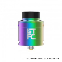 Authentic Augvape BTFC RDA Rebuildable Dripping Atomizer w/ BF Pin - Rainbow, Stainless Steel, 25mm Diameter