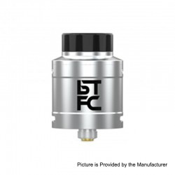 Authentic Augvape BTFC RDA Rebuildable Dripping Atomizer w/ BF Pin - Silver, Stainless Steel, 25mm Diameter