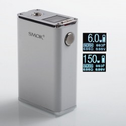 Authentic SMOKTech SMOK Micro One 150 R150 1900mAh TC VW Variable Wattage Box Mod - White, 6~150W