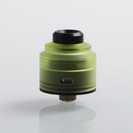 Authentic GAS Mods Nixon S RDA Rebuildable Dripping Atomizer w/ BF Pin - Green + Black, PMMA + Stainless Steel, 22mm Diameter