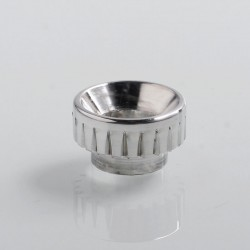 810 Gear Replacement Drip Tip for 528 Goon / Reload / Battle RDA - Silver, Aluminum, 11mm