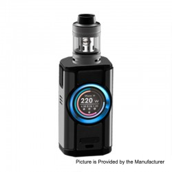 Authentic Aspire Dynamo 220W TC VW Variable Wattage Box Mod + Nepho Tank Kit - Dark Grey, 2 x 18650 / 20700 / 21700, 4ml