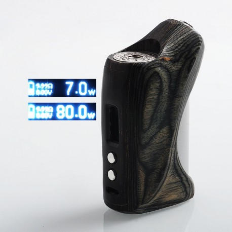 Authentic VGME DPS75 80W TC VW Variable Wattage Box Mod - Random Color (Grey + Black Tone), Reconstituted Wood, 7~80W, 1 x 18650