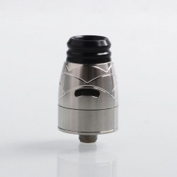 Authentic Hugsvape Theseus RDA Rebuildable Dripping Atomizer w/ BF Pin - Silver, Stainless Steel, 22mm Diameter