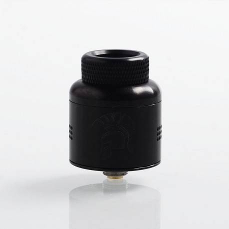 Authentic Wotofo Warrior RDA Rebuildable Dripping Atomizer w/ BF Pin - Black, Stainless Steel, 25mm Diameter