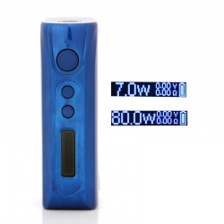 Authentic Pioneer4You iPV D3S 80W TC VW Variable Wattage Box Mod - Blue, Aluminum Alloy, 7~80W, 1 x 18650