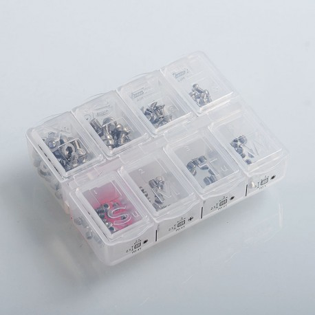 Authentic Fumytech Multiscrew Box for RDA / RTA / RDTA - P0.4 + P0.45 + P0.5 (160 PCS)