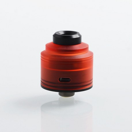 Authentic GAS Mods Nixon S RDA Rebuildable Dripping Atomizer w/ BF Pin - Red + Black, PMMA + Stainless Steel, 22mm Diameter