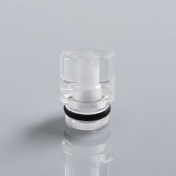 510 Replacement Drip Tip for RDA / RTA / Sub Ohm Tank Atomizer - Transparent, PC, 13mm