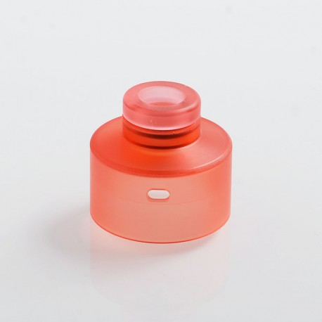Replacement 510 Drip Tip + Top Cap for Narda Style RDA - Red, PMMA