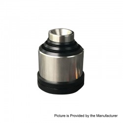 YFTK Hussar Legacy Style RDA Rebuildable Dripping Atomizer w/ BF Pin - Silver, 316 Stainless Steel, 22mm Diameter
