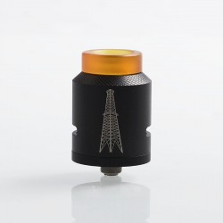 Authentic Rig Mod World Wide Model 41 RDA Rebuildable Dripping Atomizer w/ BF Pin - Black, Stainless Steel, 25mm Diameter
