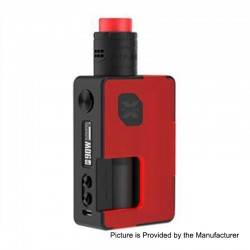Authentic Vandy Vape Pulse X 90W TC VW Squonk Box Mod + Pulse X BF RDA Kit - Frosted Red, 5~90W, 1 x 18650 / 20700 / 21700