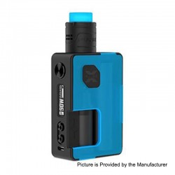 Authentic Vandy Vape Pulse X 90W TC VW Squonk Box Mod + Pulse X BF RDA Kit - Frosted Cyan, 5~90W, 1 x 18650 / 20700 / 21700