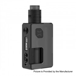 Authentic Vandy Vape Pulse X 90W TC VW Squonk Box Mod + Pulse X BF RDA Kit - Frosted Black, 5~90W, 1 x 18650 / 20700 / 21700