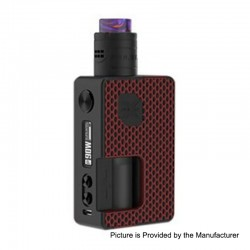 Authentic Vandy Vape Pulse X 90W TC VW Squonk Box Mod + Pulse X BF RDA Kit - G10 Red, 5~90W, 1 x 18650 / 20700 / 21700