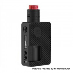 Authentic Vandy Vape Pulse X 90W TC VW Squonk Box Mod + Pulse X BF RDA Kit - G10 Black, 5~90W, 1 x 18650 / 20700 / 21700