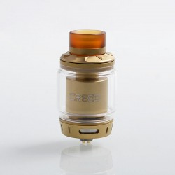 Authentic GeekVape Creed RTA Rebuildable Tank Atomizer - Gold, Stainless Steel, 4.5ml / 6.5ml, 25mm Diameter