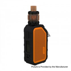 Authentic Wismec Active 2100mAh 80W TC VW Box Mod + Amor NS Plus Tank Kit - Orange, 1~80W, 4.5ml
