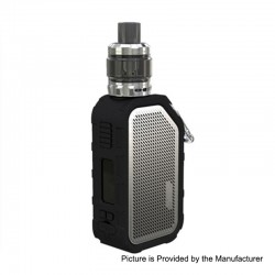 Authentic Wismec Active 2100mAh 80W TC VW Box Mod + Amor NS Plus Tank Kit - Silver, 1~80W, 4.5ml