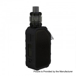 Authentic Wismec Active 2100mAh 80W TC VW Box Mod + Amor NS Plus Tank Kit - Black, 1~80W, 4.5ml