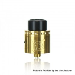 Authentic Asmodus Vault RDA Rebuildable Dripping Atomizer w/ BF Pin - Gold, Stainless Steel, 24mm Diameter