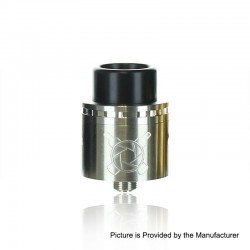 Authentic Asmodus Vault RDA Rebuildable Dripping Atomizer w/ BF Pin - Silver, Stainless Steel, 24mm Diameter