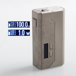 Authentic Wismec Luxotic MF Box 100W VW Squonk Box Mod w/ Screen - Silver, 1 x 18650 / 21700 / 2 x 18650, 7ml