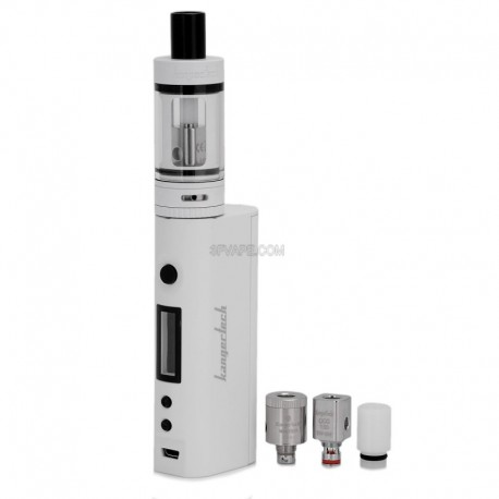Authentic Kanger Subox Mini 50W VW Variable Wattage Starter Kit - White, 1 x 18650