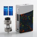 Authentic GeekVape Nova 200W TC VW Variable Wattage Box Mod + Cerberus Tank Kit - Silver + Flare Resin, 2 x 18650, 4ml