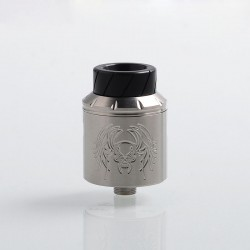 Reckoning Style RDA Rebuildable Dripping Atomizer w/ BF Pin - Silver, Stainless Steel, 25mm Diameter