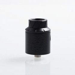 Reckoning Style RDA Rebuildable Dripping Atomizer w/ BF Pin - Black, Stainless Steel, 25mm Diameter